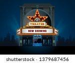theater cinema building vector... | Shutterstock .eps vector #1379687456