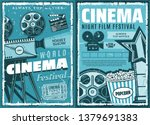 night film festival or movie... | Shutterstock .eps vector #1379691383