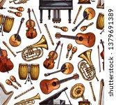 Music Instruments Seamless...