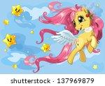 beautiful little pony running... | Shutterstock .eps vector #137969879