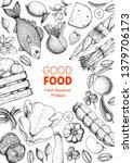 various food frame. good food...   Shutterstock .eps vector #1379706173