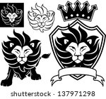 Lion Head Designs Isolated On...