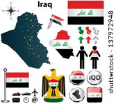 vector of iraq set with... | Shutterstock .eps vector #137972948
