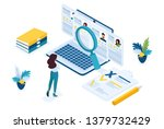 isometric hr manager  business... | Shutterstock .eps vector #1379732429