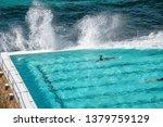 swimmers enjoy beautiful pool...   Shutterstock . vector #1379759129