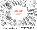 doner kebab and ingredients for ...   Shutterstock .eps vector #1379760920