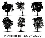 tree silhouette isolated on... | Shutterstock .eps vector #1379763296
