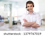 young male phone service... | Shutterstock . vector #1379767019
