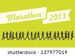 marathon 2013 vector   Shutterstock .eps vector #137977019