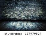 old room grunge brick wall... | Shutterstock . vector #137979524