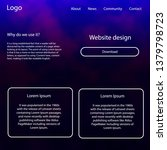 light purple vector web ui kit...