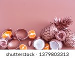 Painted In Gold Fruit Pineapple ...