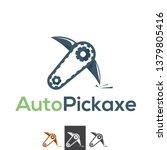 vector robotic pick axe  gold... | Shutterstock .eps vector #1379805416
