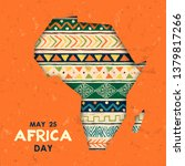 africa day greeting card... | Shutterstock .eps vector #1379817266