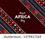 may 25 africa day greeting card ... | Shutterstock .eps vector #1379817269