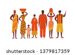 african people on isolated... | Shutterstock .eps vector #1379817359
