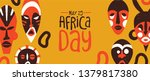 may 25 africa day web banner of ... | Shutterstock .eps vector #1379817380