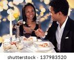 portrait of romantic couple... | Shutterstock . vector #137983520