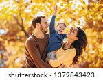 young family having fun in the... | Shutterstock . vector #1379843423