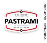pastrami sandwich vintage stamp | Shutterstock .eps vector #1379847809