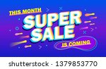 advertising inscription  super...   Shutterstock .eps vector #1379853770
