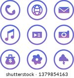 web icons. set of purple... | Shutterstock .eps vector #1379854163