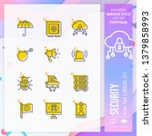 security icon set with lineal...