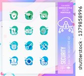 security icon set vector with...
