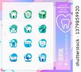 dental icon set vector with...