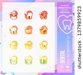 dental icon set with glyph...