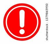 warning icon. vector... | Shutterstock .eps vector #1379865950