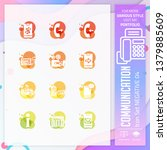 technology icon set vector with ...