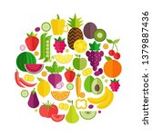 fruit and vegetables organic...   Shutterstock .eps vector #1379887436