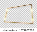 gold shiny rectangular frame...   Shutterstock .eps vector #1379887520