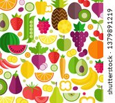 fruits and vegetables... | Shutterstock .eps vector #1379891219