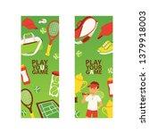 tennis vector seamless pattern...   Shutterstock .eps vector #1379918003