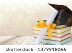 graduation mortarboard on top... | Shutterstock . vector #1379918066