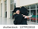 two asian girls celebrating... | Shutterstock . vector #1379923010