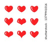 heart icon design collection  | Shutterstock .eps vector #1379941016