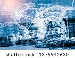 stock market or forex trading... | Shutterstock . vector #1379942630