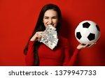 beautiful brunette woman in... | Shutterstock . vector #1379947733