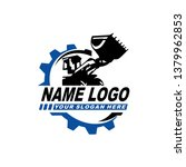 heavy equipment industry logo... | Shutterstock .eps vector #1379962853