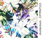 beautiful seamless floral...   Shutterstock . vector #1379967113