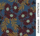 beautiful seamless floral... | Shutterstock . vector #1379967116