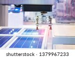 automatic production of solar... | Shutterstock . vector #1379967233