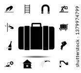luggage icon. simple glyph ...