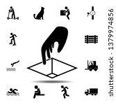 theft  box  hand icon. simple...