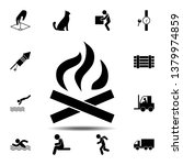 fire  fire icon. simple glyph ...