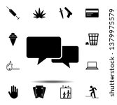 dialogue icon. simple glyph ...