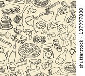 big food mix seamless pattern | Shutterstock .eps vector #137997830